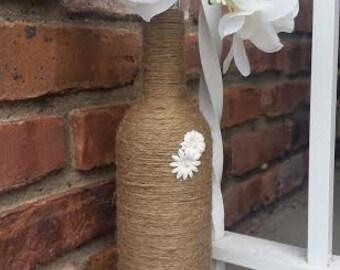 Rustic Twine Vase - Shower Centerpiece - Home Decor