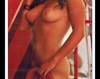 "Mature Playboy November 1971 : Playmate Centerfold Danielle de Vabre Gatefold 3 Page Spread Photo Wall Art Decor 11"" x 23"""