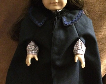 American Girl Black Cape Fully Lined with Matching Black Gaiters