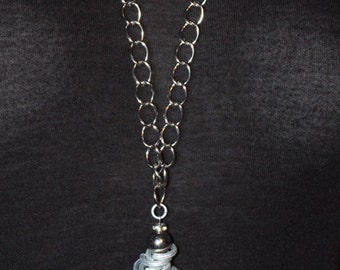 Multi-Metal Tassel Necklace