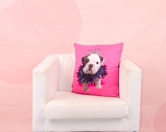 Drag Queen Bulldog - the throw pillow
