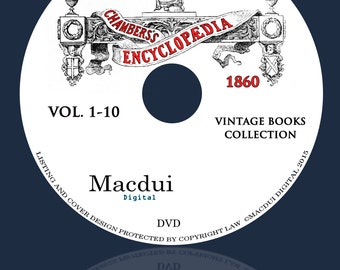 Chambers's Encyclopaedia 1860-1870 Vintage Books Collection 13 PDF E-Books on 1 DVD