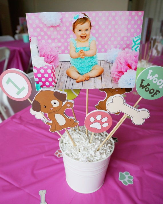 Diy Party Decoration Kit Clusters: DIY Puppy Party Centerpieces // Instant Download // DIGITAL