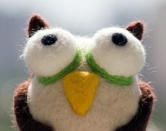 Needle Felted Animal Owl