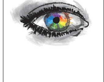 Rainbow Eye Notecard
