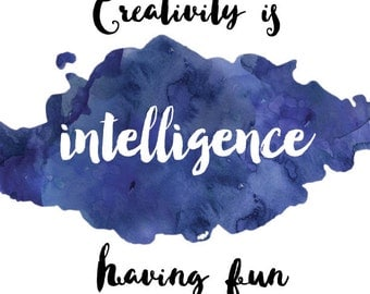 Einstein Quote Printable - Instant Download