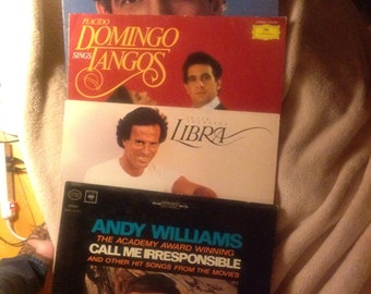 HEARTTHROB ALBUM COVERS- Set of Four- Great for Crafting or Display- Domingo -Iglesias-Williams
