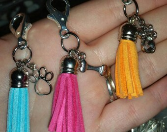 doggy diffuser, customizeable -  dog diffuser, pet diffuser, aromatherapy, essential oils, clip-on, collar, tassle, 8 colors, charm optional