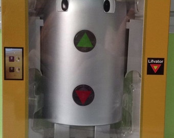 Liftvator a educational elevator Toy, simulates a hall elevator push buttons. Lifvator a Lift Toy.
