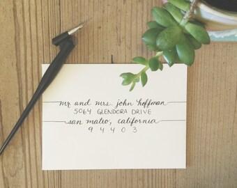 MEGAN Layout / Wedding Calligraphy Envelope Addressing / Hand Written / Tier 2 Layout