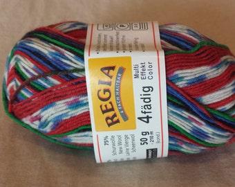 Regia 4 Fadig Sock Yarn - 4 ply - Wool Blend Mulit Effect Color 5384