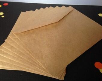 C6 Kraft Brown Envelopes Recycled Brown Craft Card Making