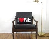 I Love Northeast or Nebraska! Black, White and Red Decorative Pillow - SALE Ready to ship!