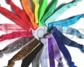 no dent ponytail elastics - soft, satin elastic dentfree / no-dent ponytail holders // pick your colors
