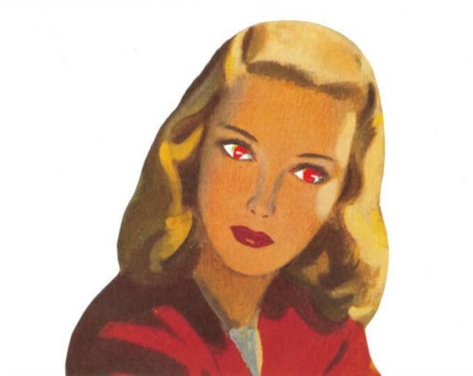 Weird Crazy Eye Art Collage