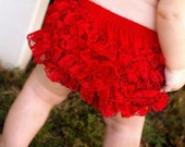 Red Lace Baby Girl Ruffle Diaper Cover Bloomer   Ruffle Shorts   Baby Girl Cotton Underwear Photo Prop Birthday Pink Black White Hot Pants