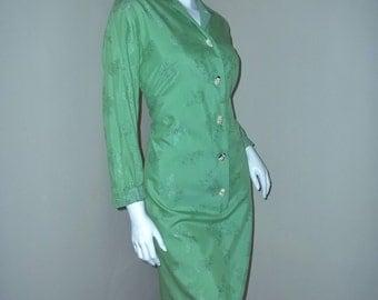 Vintage Stan Hicks ASIAN NOVELTY BUTTONS Hawaiian Rockabilly Shirt Dress
