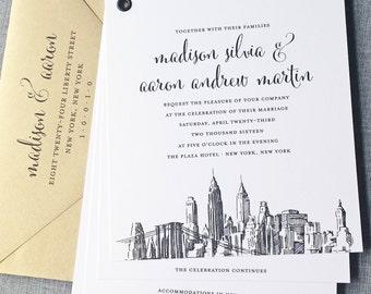 Skyline Invitation | Etsy