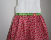 Girls Cute Strawberry Dress Size Two