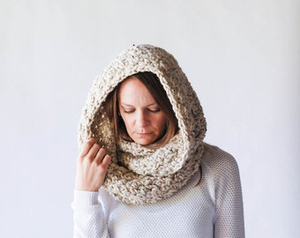 Chunky Infinity Scarf Cowl / THE OREGON / Oatmeal