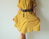 Fay...Kurta Tunic dress  Linen/ cotton  (one size fit most)(03)