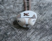 Beach Pottery Cat Necklace