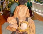Handmade Primitive Sunflower Susan Doll HAFAIR