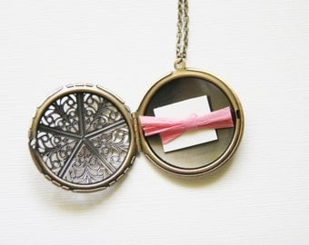 Bridesmaid Jewelry Personalized Locket Necklace Bridesmaid Locket Necklace Secret Message Locket