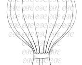 Digital Stamp Hot Air Balloon