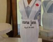 Nurse RN Dress Form Nursing School Graduation Gift Decor Celebration Customized Name and Date