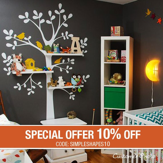 Wall Decals Nursery - The Original Shelving Tree Wall Decal - Nursery Decor