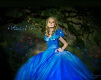 Cinderella Costume 2015, Cinderella Dress Tween Teen Adult, Cinderella teen, 2015 Movie Dress,  Disney Princess Halloween Costume