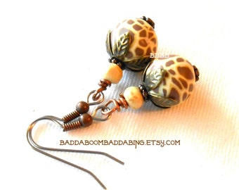 Exotic Animal Print Earrings - Surgical Steel French Hooks
