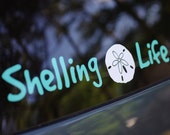 Shelling Life® Vinyl Decal - Beach Decal - Shell Decal - Car Decal