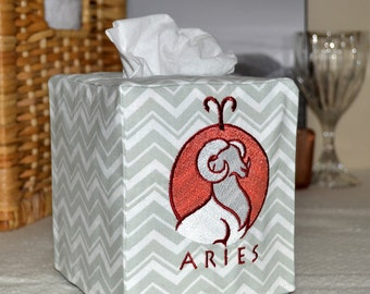 50% OFF!  Zodiac Signs Aries Tissue Box Cover