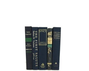 Blue  Vintage  Books , Navy Wedding Decor, Vintage  Photography Prop , decorative books , old books , vintage book bundles