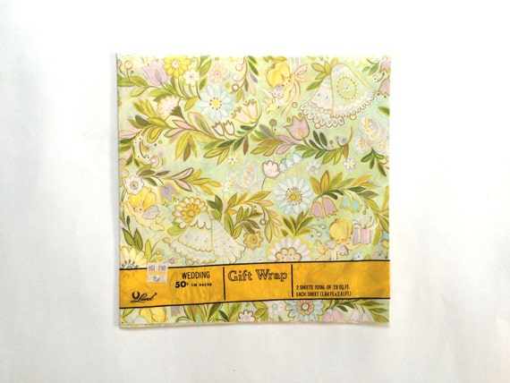 Wedding Gift Wrapping: Wrapping Paper / Gift Wrap 1970s For Wedding / Anniversary/