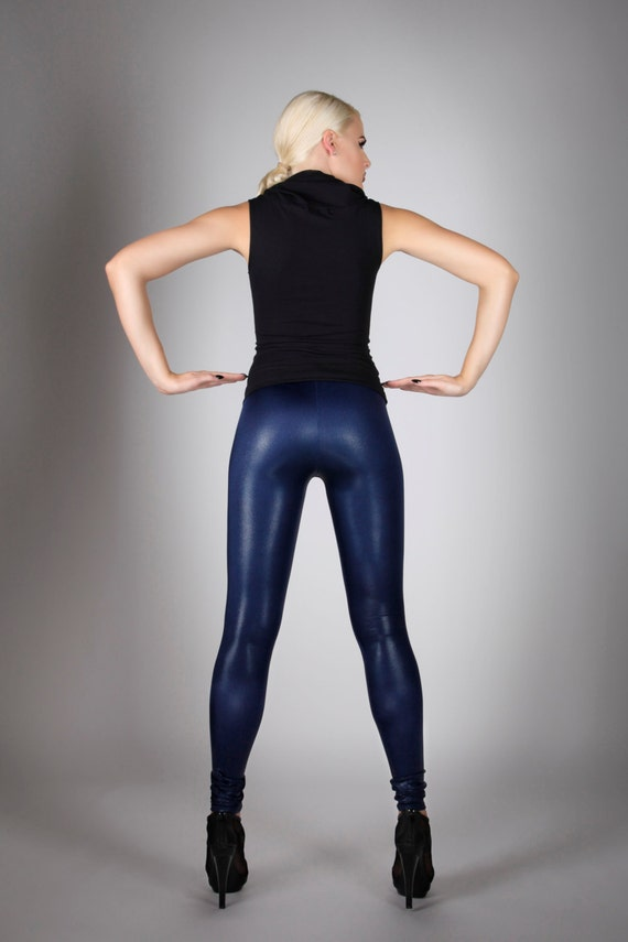 Blue Spandex Leggings Hardon Clothes