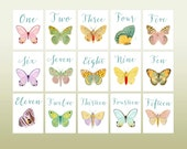 Wedding Table Numbers,  Wedding Table Cards, Vintage Butterfly Illustrations, Butterfly Theme, Table Tents, Table Numbers