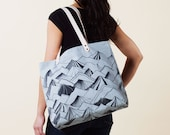 Mountain Tote Bag - Hand Dyed Slate