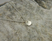 Sterling Silver Nugget Necklace Simple Silver Necklace Minimalist Necklace Handmade Silver Necklace Tiny Pebble Necklace