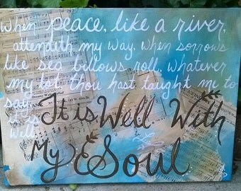 It is Well With My Soul painting, peace like a river -Horatio Spafford Christian Hymn painting