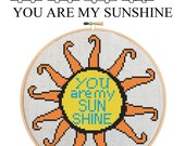 YOU Are My SUNSHINE - Home Decor Counted Cross Stitch Pattern PDF - Plus Free Bonuses - Instant Download