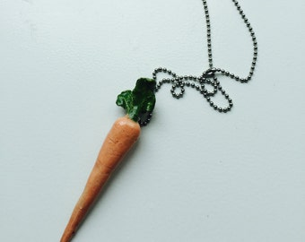 Ceramic Carrot Necklace