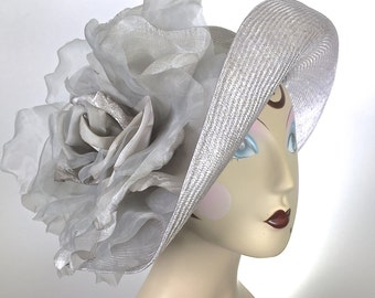Kentucky Derby Hat Grey SilverDerby Hat Downton Abby Hat