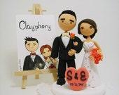 Cute couple Custom wedding cake topper