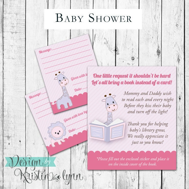 bring a book baby shower inserts by designbykristinlynn on etsy