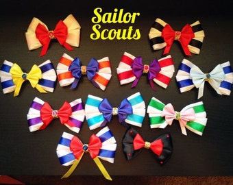Sailor Moon Scouts inspired bow