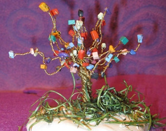 TREE of LIFE-Assorted COLORED Stones