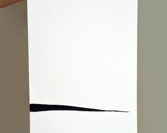 Minimal ink abstract art painting on paper linear art ink for Minimal art vzla